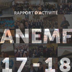 Rapport d'activité de l'ANEMF 2017 - 2018